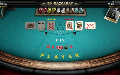 3D Baccarat from 1X2 Gaming Image