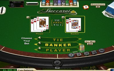 Baccarat from RTG Image